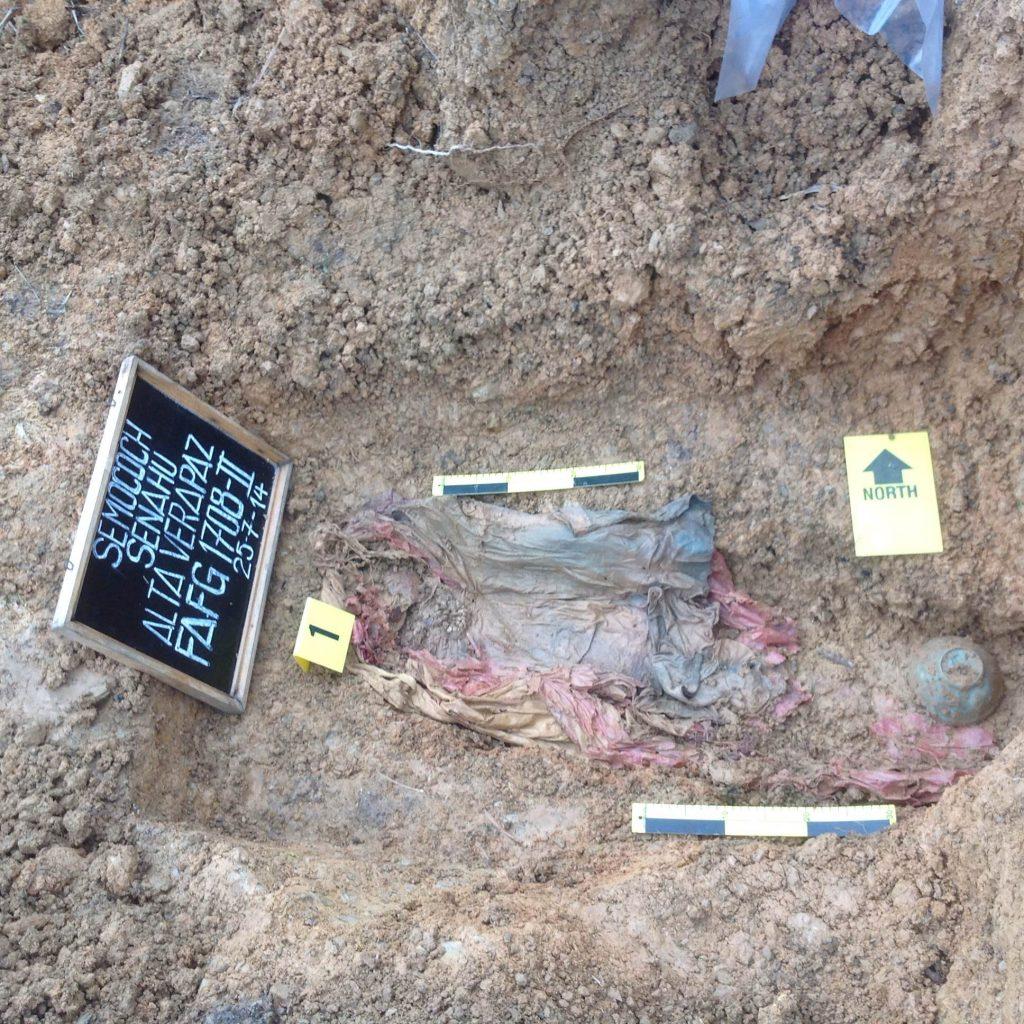 Exhumación realizada en Alta Verapaz año 2014