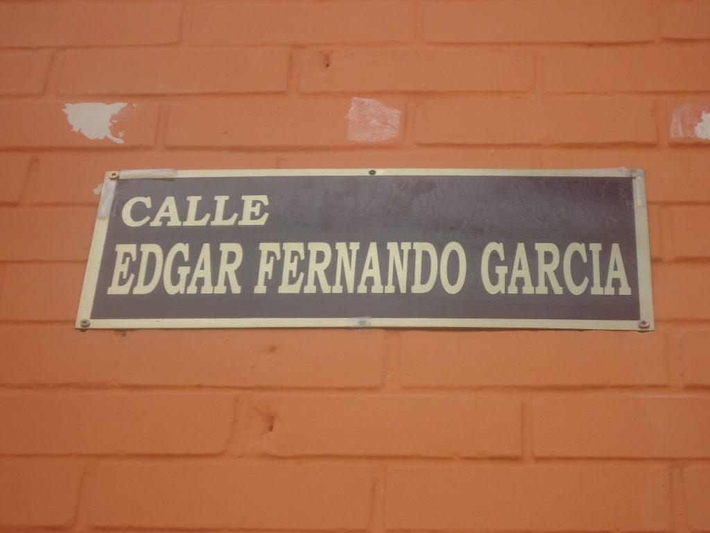 Nombramiento de calle Edgar Fernando García en memoria del sindicalista desaparecido
