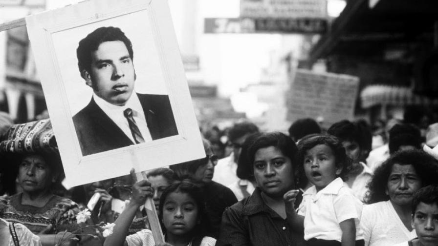 1985_Manifestación_tras-la-muerte-de-Héctor-Gomez-Calito_en_Guatemala_Ciudad_JMS
