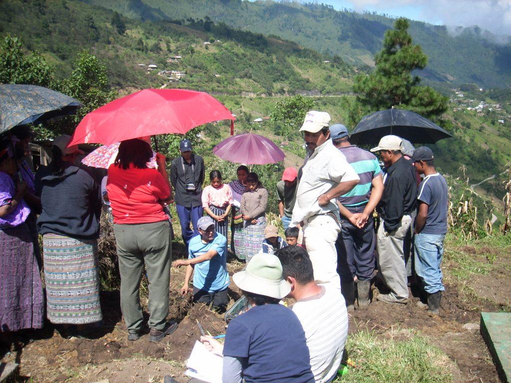 Exhumación realizad en Barillas, Huehuetenango