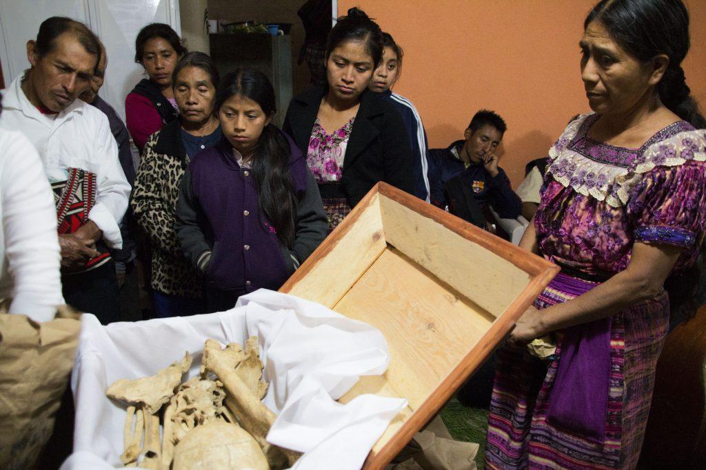 Inhumación en Uspantán, Quiché. Año 2015